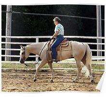 Quarter Horse Early Morning Blonde Poster
