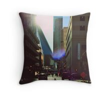 Field Street - Dallas, TX Throw Pillow