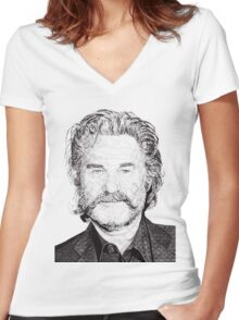 Kurt Women's Fitted V-Neck T-Shirt
