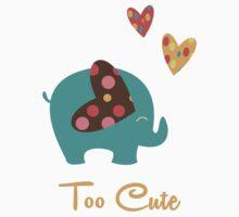 Cute Elephant With Hearts  One Piece - Long Sleeve