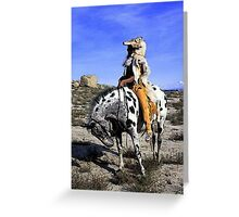 Appaloosa Memories Of The Past Greeting Card