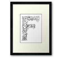 Floral Letter F Framed Print