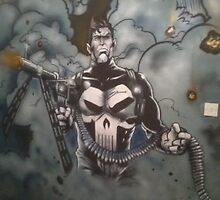 The Punisher    Wall mural, 8ft by 14 ft by imajica