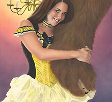 Belle and Her Beast by KC Art
