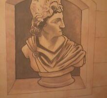 Roman bust Mural by imajica