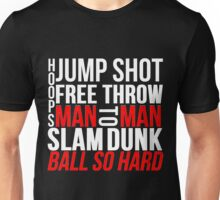 BASKETBALL TYPOGRAPHIC (RED AND BLACK) Unisex T-Shirt