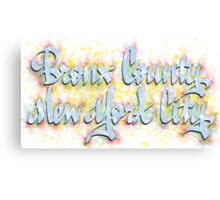 Bronx County New York City Canvas Print