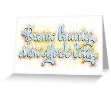 Bronx County New York City Greeting Card