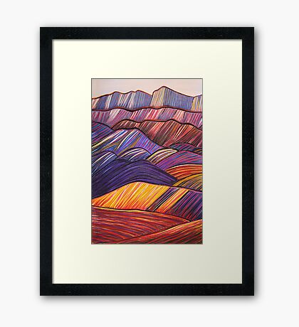 Perfect Pastels - West Wall Wilpena Pound Framed Print