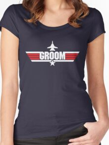 Custom Top Gun Style Style - Groom Women's Fitted Scoop T-Shirt