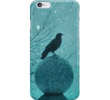 Blue Snow Globe iPhone Case/Skin