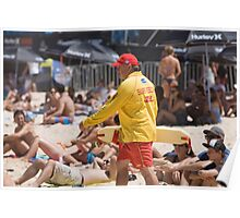 Surf Rescue on Manly Beach Sydney Poster