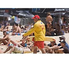 Surf Rescue on Manly Beach Sydney Photographic Print