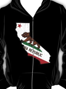 California State Bear Flag (vintage distressed design) T-Shirt