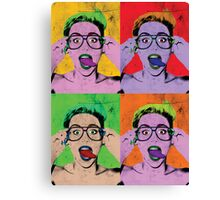 Miley Warhol Canvas Print