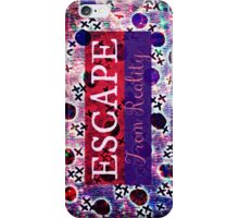ESCAPE FROM REALITY Bold Typography Adventure Hipster Cool Ombre Blue Purple Abstract Pattern Art iPhone Case/Skin