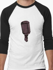 Retro Microphone Men's Baseball ¾ T-Shirt
