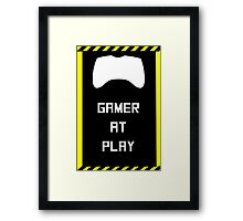 Gamer at Play Poster (A2) Framed Print