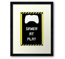 Gamer at Play Poster (A2) Framed Print