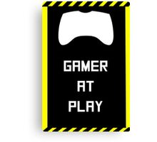 Gamer at Play Poster (A2) Canvas Print