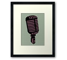 Retro Microphone Framed Print