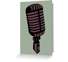 Retro Microphone Greeting Card