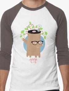 Anna Log Men's Baseball ¾ T-Shirt