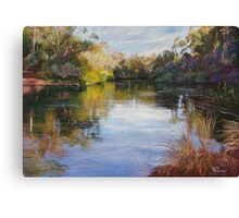 'The Goulburn at McLarty's' Canvas Print