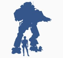 Light Blue Robot Titan  - Sticker & Clothing -  Vector Video Game by CooliPhones