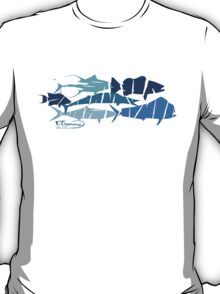 Fish collage ripped  T-Shirt