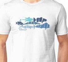 Fish collage ripped  Unisex T-Shirt