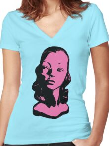 Mannequin Head Original Pop Art Shirt! You WILL Look Awesome. Women's Fitted V-Neck T-Shirt
