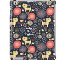 pattern of funny kittens and fish iPad Case/Skin