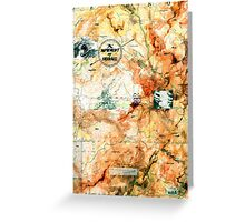 A Movement of Travail, from the Metaphysical Maps series. Greeting Card