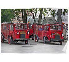 Stadtrundfahrt(s) In Red Poster