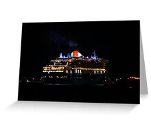 Arrival of the Queen Mary #2 Greeting Card