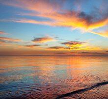 Watercolour Sunset at Chelsea Beach by VisualFX