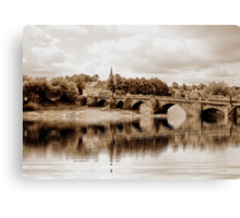 OLDE DEE BRIDGE, CHESTER. UK Canvas Print