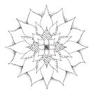 Flora Mandala tangle by Vickie Simons
