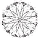 Ripple Mandala tangle by Vickie Simons
