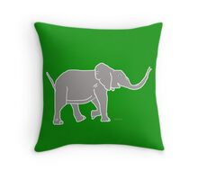Elephant Grey 12C Throw Pillow