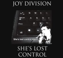 SALE - 20% OFF Joy Division Ian Curtis She Lost Control Design  by Shaina Karasik
