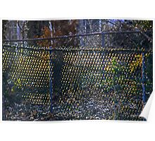 Sunrise on a Chain Link Fence Poster