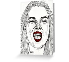 Kate with the Red Lips Greeting Card