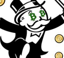 Bitcoin Rich T Shirt Sticker
