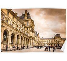 Palais Du Louvre Sunset Poster