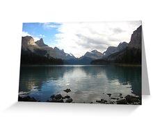 Maligne Lake Reflections Greeting Card