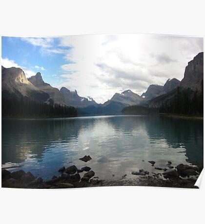 Maligne Lake Reflections Poster