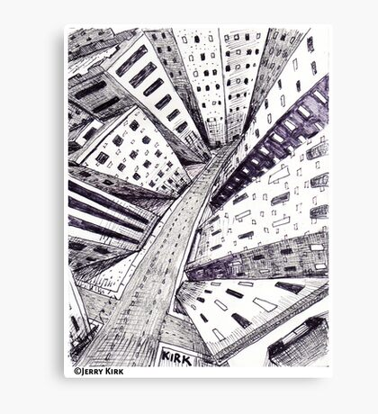 'The Lonely City' Canvas Print