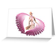 pink alien wings Greeting Card